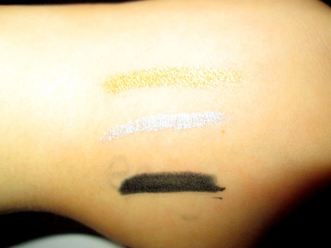covergirl link it point plus liners swatchhes